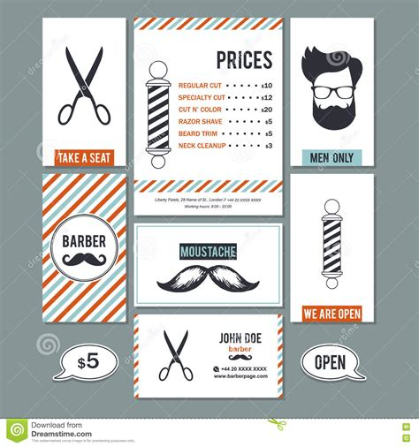 barber shop vector price list template haircut and shave retro barber hair salon barber shop vintage sign and services prices