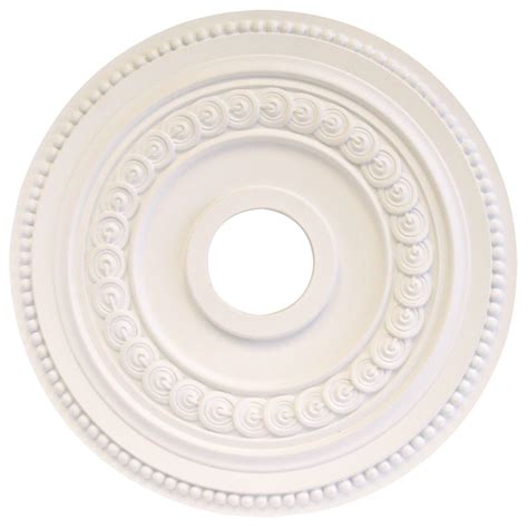ceiling medallions lowes shop portfolio white medallion at lowes