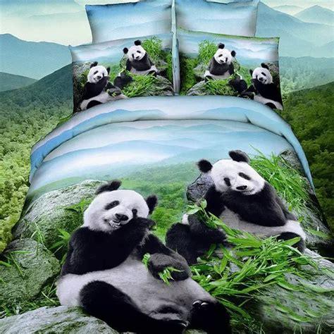 aliexpress buy 3d panda bedding ses 4pc duvet