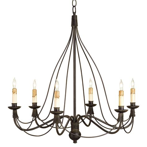 Black Wrought Iron Chandeliers Derby Bell Curve Black Wrought Iron 6 Light Chandelier Kathy Kuo Home