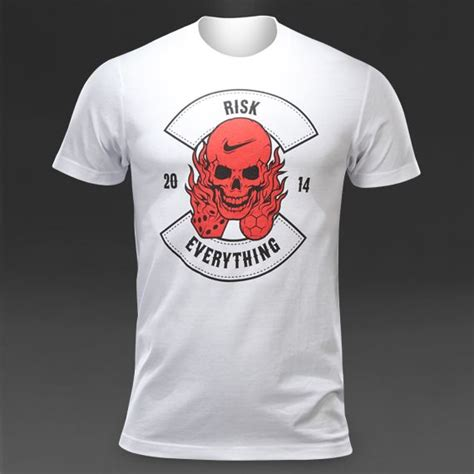 Kaos Tshirt Nike Risk Everything nike risk everything t shirt mens football clothing white stuff nike