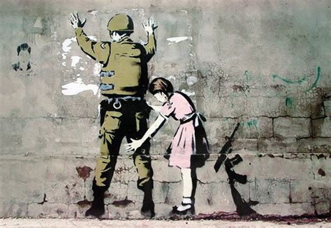 Banksy Wall Stickers Uk banksy street art graffiti soldier and girl poster
