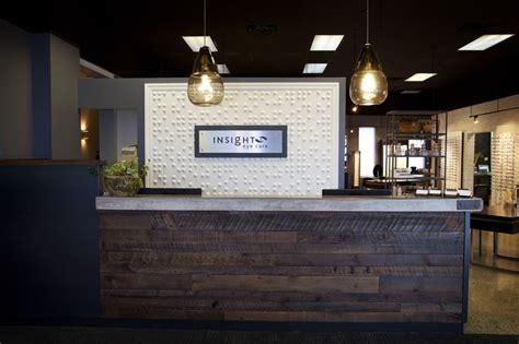front desk at insight eye care reception desks