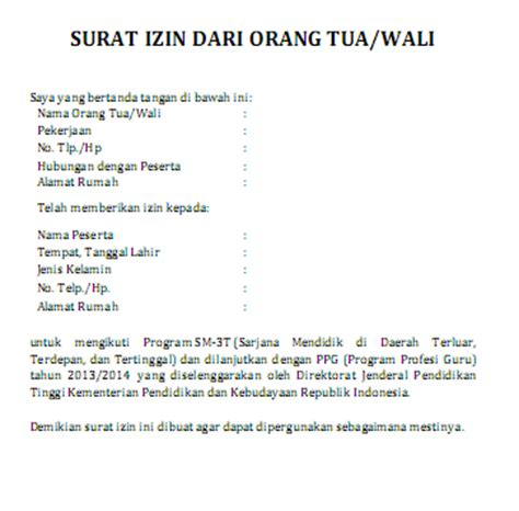 surat izin contoh surat indonesia newhairstylesformen2014