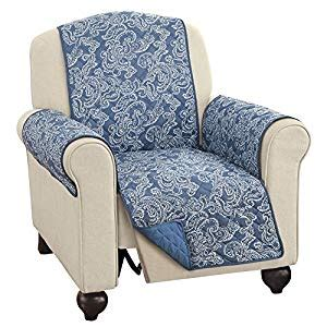 blue recliner covers paisley reversible furniture protector cover