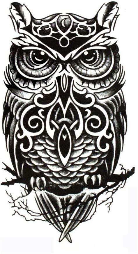 black and white owl tattoo designs black and white owl designs