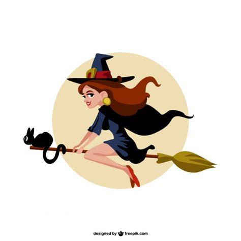 imagenes de brujas volando halloween vector de dibujos animados de brujas descargar vectores