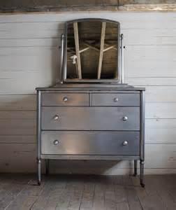 Antique Metal Dresser by Steel Dresser Phylum Furniture