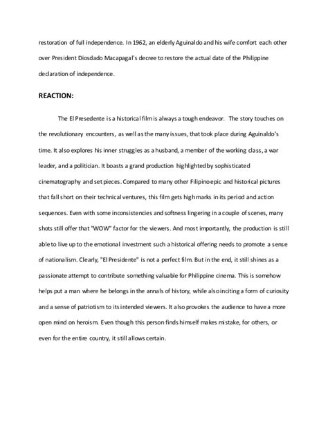 abraham lincoln biography conclusion el presedente movie summary and reaction paper