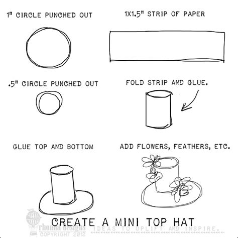 How To Make A Small Hat Out Of Paper - paper top hat template bird just makes me so happy i