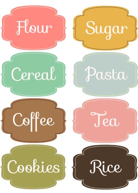 printable kitchen labels free free downloadable printable labels can be edited label