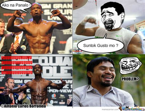 Pacquiao Mayweather Memes - bradley vs manny pacquiao by tonemo19 meme center