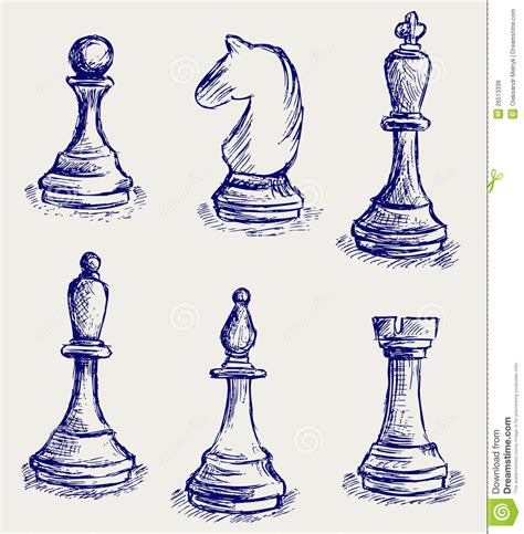 doodle chess chess figures royalty free stock images image 26513339
