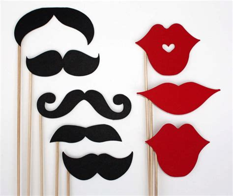 free printable mustache and lips photo booth props free printable photo booth props roundup footstool apps