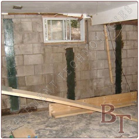 cinder block foundation bowed wall repair galleries and