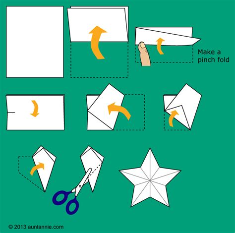How To Make A 5 Point Out Of Paper - how to make a garland decorations