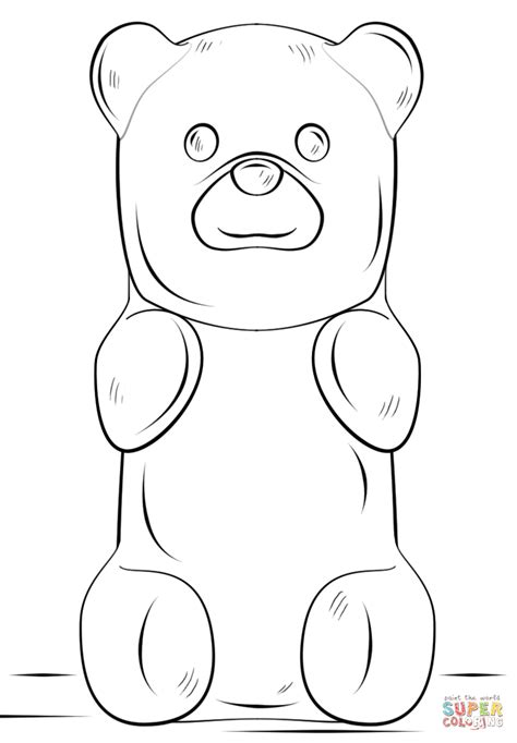 Coloring Pages Gummy Bear | gummy bear coloring page free printable coloring pages