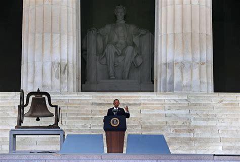 obama lincoln memorial 50th march on washington recap obama oprah foxx