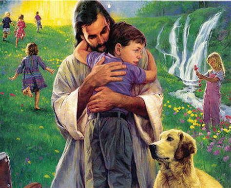 imagenes de jesucristo abrazando a un niño jesus los ni 241 os los perros y el paraiso