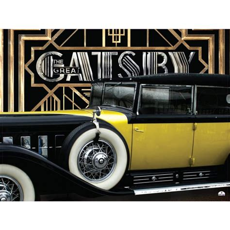 theme of yellow in the great gatsby the great gatsby yellow car standin cardboard cutout