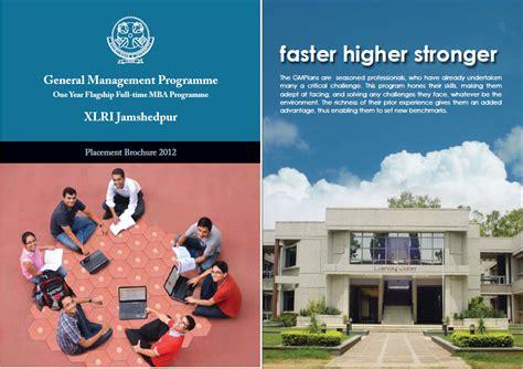 Mba Brochure Design by Xlri Gmp 2011 2012 Collaborative Xlri Gmp 2011 12