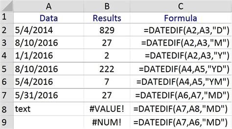 javascript format date number use excel s datedif to count days months or years