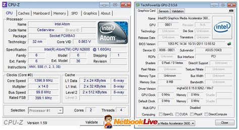 cpu info intel atom n2600 benchmarks compared to amd c 50 and intel atom n570