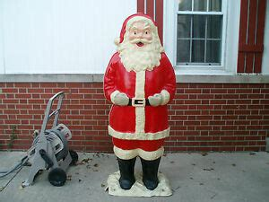 polk brothers santa vintage polk bros size 5ft lighted santa claus 1963 l k ebay