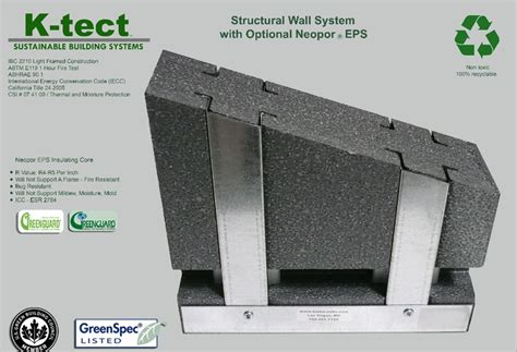 Hummer Neopo neopor insulation in steel stud wall construction