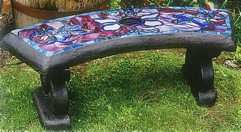 memorial benches canada stained glass benches concrete benches nanaimo bc
