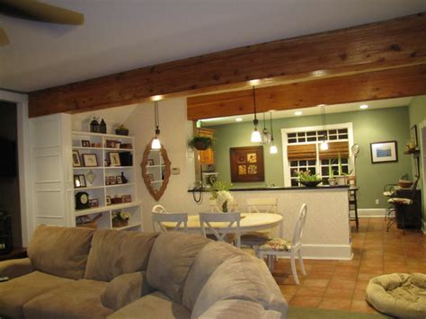 How To Drywall A Room by Drywall To Woodland Room Beams Traditional Living