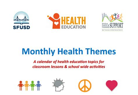 themes in medical education resources elementary sfusd health education