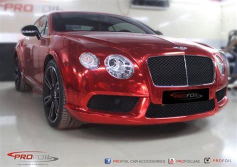 red chrome bentley bentley car wraps bentley vinyl car wrapping