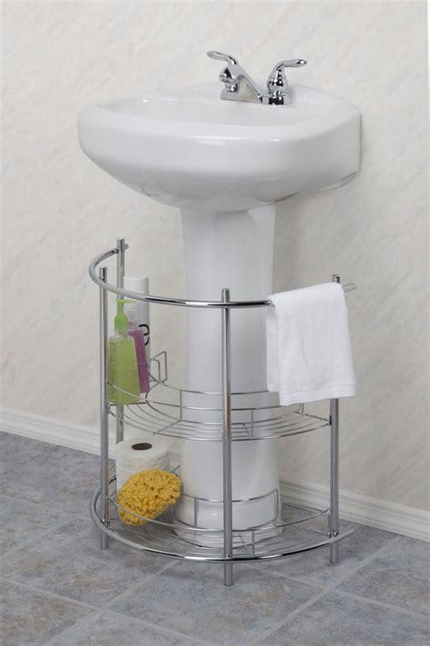 under pedestal sink storage essential home under sink pedestal chrome finish