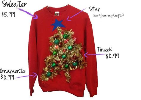 thrifty chic diy ugly christmas sweaters   sweater