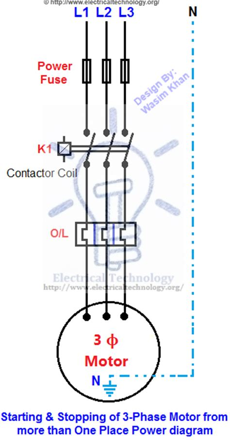 contactor wiring diagram start stop efcaviation