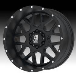 Xd Wheels On Truck Kmc Xd Xd820 Grenade Satin Black 18x9 8x170 12mm