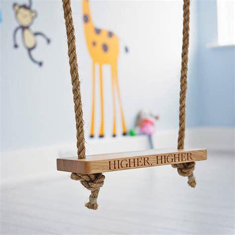 rope swing games personalised oak garden tree swing by the oak rope