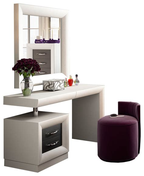 contemporary bedroom vanity t10 bedroom make up vanity 55 quot white dark gray matte