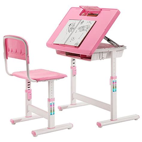 Pink Desk And Chair Set by Child S Adjustable Pink Metal Storage Desk And Chair Set