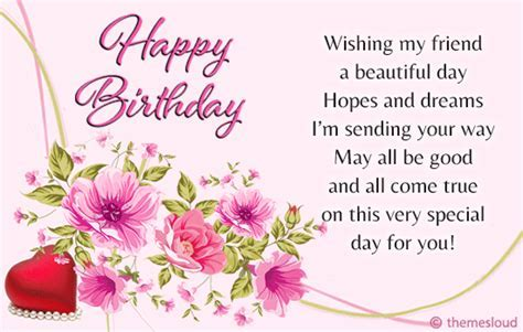 Happy Birthday Wish For Your Friend!! Free For Best