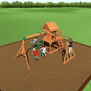 backyard discovery springboro swing set wood clubhouse swing set get your kids moving with kmart