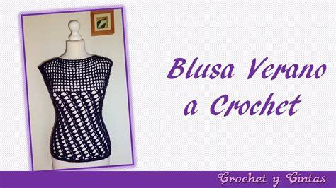 blusa tejida a crochet para verano parte 1 de 2 blusa verano con puntos combinados a crochet para mujer