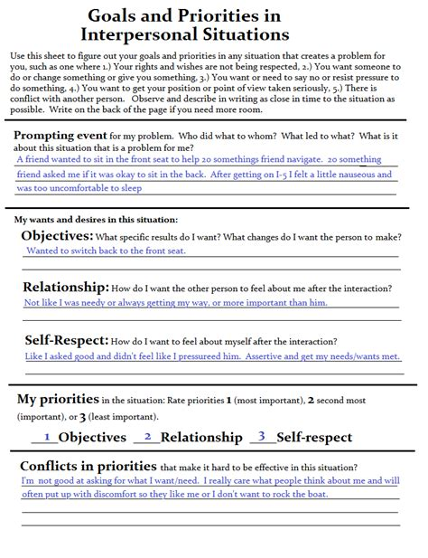 dbt skills resource goals and priorities in interpersonal effectiveness a complicated person