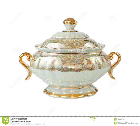 Handmade Pot - rustic handmade pot isolated royalty free stock photo