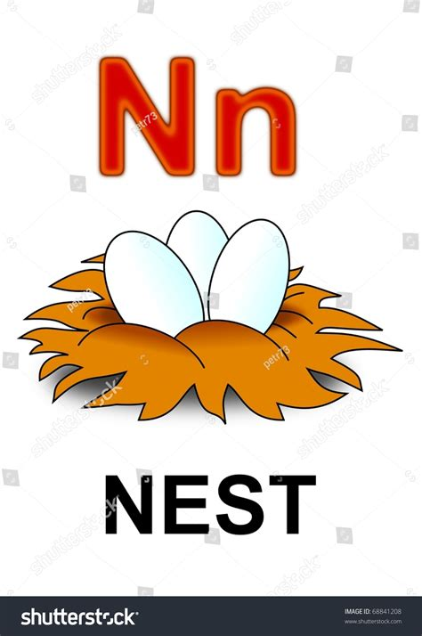 N Is For by Nest Clipart Letter N Pencil And In Color Nest Clipart