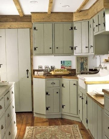 milk paint cabinets wood counter tops