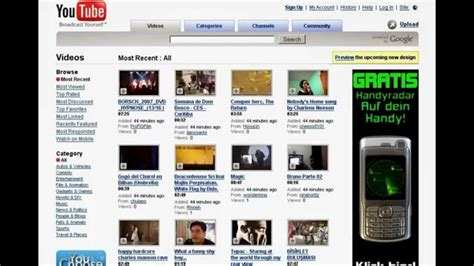 youtube layout evolution youtube layout history youtube
