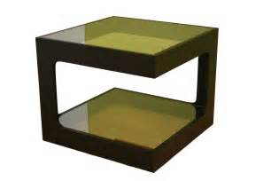 Adorable modern square glassy green and black rack coffee tables for