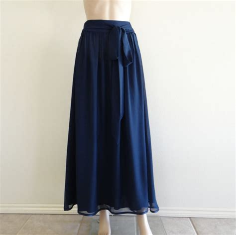 navy blue maxi skirt navy blue skirt by lynamobley2012